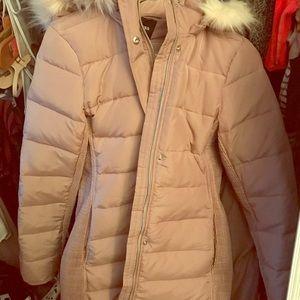 Express brand long puffer jacket